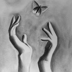 of hands, 12 x 17 inch, arjun v nair,paintings for living room,realism drawings,paintings for living room,thick paper,graphite pencil,12x17inch,GAL0560413626