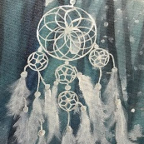 dreamcatcher, 11 x 14 inch, kanika arora,paintings,conceptual paintings,paintings for living room,paintings for bedroom,paintings for kids room,paintings for hotel,canvas,acrylic color,11x14inch,GAL0568413648