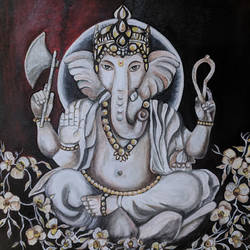 floral white ganesha, 18 x 18 inch, aboli moroney,religious paintings,art deco paintings,ganesha paintings,realistic paintings,paintings for dining room,paintings for living room,paintings for office,paintings for kids room,paintings for hotel,paintings for kitchen,paintings for school,paintings for hospital,paintings for dining room,paintings for living room,paintings for office,paintings for kids room,paintings for hotel,paintings for kitchen,paintings for school,paintings for hospital,canvas,oil,18x18inch,GAL055613649,vinayak,ekadanta,ganpati,lambodar,peace,devotion,religious,lord ganesha,lordganpati,ganpati,ganesha,lord ganesh,elephant god,religious,ganpati bappa morya,mouse,mushakraj,ladoo,sweets,ganpati bappa morya,ganesh chaturthi,ganesh murti,elephant god,religious,lord ganesh,ganesha,om,hindu god,shiv parvati, putra,bhakti,blessings,aashirwad,pooja,puja,aarti,ekdant,vakratunda,lambodara,bhalchandra,gajanan,vinayak,prathamesh,vignesh,heramba,siddhivinayak,mahaganpati,omkar,mushak,mouse,ladoo,modak