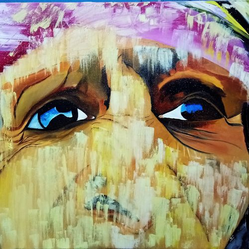 eyes, looking at you, 36 x 24 inch, inderjeet singh,figurative paintings,conceptual paintings,abstract expressionist paintings,paintings for dining room,paintings for living room,paintings for bedroom,paintings for bathroom,paintings for kids room,paintings for hotel,paintings for kitchen,paintings for school,paintings for hospital,canvas,oil,36x24inch,GAL0571513691