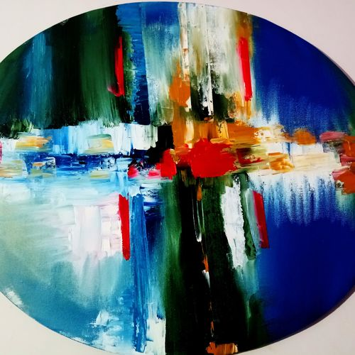 beauty in oval shape , 24 x 24 inch, inderjeet singh,abstract paintings,figurative paintings,conceptual paintings,paintings for dining room,paintings for living room,paintings for bedroom,paintings for office,paintings for bathroom,paintings for kids room,paintings for hotel,paintings for kitchen,paintings for school,paintings for hospital,canvas,oil,24x24inch,GAL0571513694