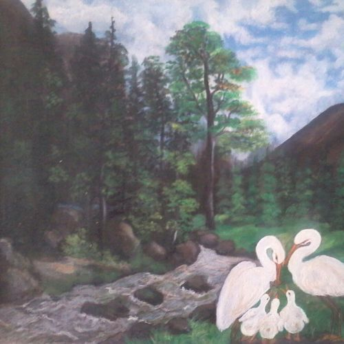 nature, 18 x 15 inch, vimala  renjith,landscape paintings,paintings for living room,canvas,acrylic color,18x15inch,GAL05611371