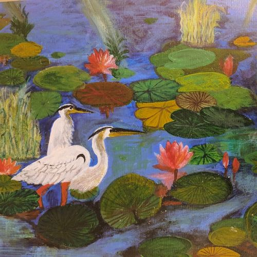 swan couple in a pond, 16 x 12 inch, anuradha bansal,paintings,wildlife paintings,landscape paintings,love paintings,paintings for dining room,paintings for living room,paintings for bedroom,paintings for office,paintings for bathroom,paintings for dining room,paintings for living room,paintings for bedroom,paintings for office,paintings for bathroom,thick paper,acrylic color,16x12inch,GAL0572113710heart,family,caring,happiness,forever,happy,trust,passion,romance,sweet,kiss,love,hugs,warm,fun,kisses,joy,friendship,marriage,chocolate,husband,wife,forever,caring,couple,sweetheart