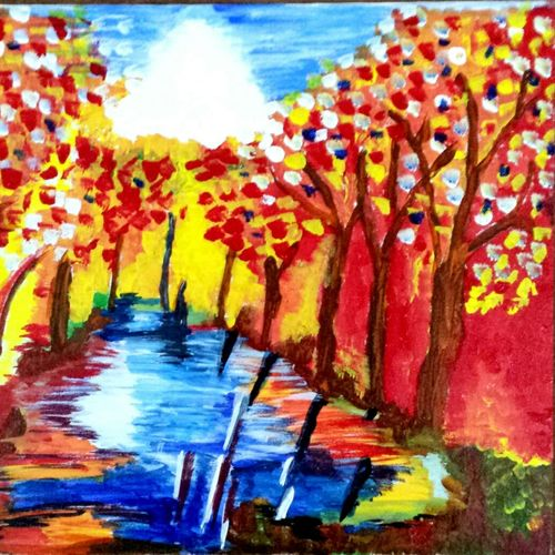 spring , 20 x 16 inch, alka james,paintings,children paintings,paintings for living room,paintings for office,paintings for hotel,paintings for school,paintings for hospital,figurative drawings,paintings for living room,paintings for office,paintings for hotel,paintings for school,paintings for hospital,canvas,acrylic color,20x16inch,GAL0573913722