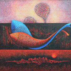 emotions series- 28, 30 x 30 inch, sharad ambulkar,paintings,abstract paintings,paintings for dining room,paintings for living room,paintings for bedroom,paintings for office,paintings for bathroom,paintings for hotel,paintings for kitchen,paintings for hospital,canvas,acrylic color,30x30inch,GAL0494713732