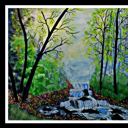 the beauty of nature, 28 x 16 inch, huma sadiya,nature paintings,paintings for bedroom,thick paper,watercolor,28x16inch,GAL05631374Nature,environment,Beauty,scenery,greenery