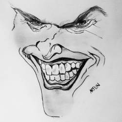 sketching of a jocker, 11 x 17 inch, arjun v nair,paintings for kids room,portrait drawings,paintings for kids room,thick paper,graphite pencil,11x17inch,GAL0560413753