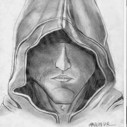 assassin creed, 11 x 17 inch, arjun v nair,portrait drawings,paintings for kids room,thick paper,graphite pencil,11x17inch,GAL0560413756
