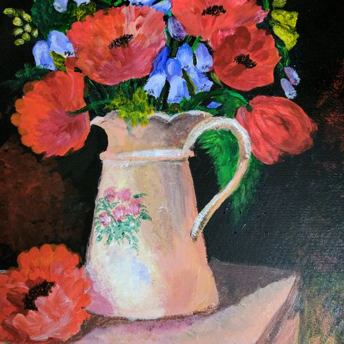 poppy!, 12 x 16 inch, anuradha bansal,paintings,flower paintings,paintings for dining room,paintings for living room,paintings for bedroom,paintings for office,paintings for hotel,paintings for kitchen,paintings for hospital,paintings for dining room,paintings for living room,paintings for bedroom,paintings for office,paintings for hotel,paintings for kitchen,paintings for hospital,thick paper,acrylic color,12x16inch,GAL0572113763