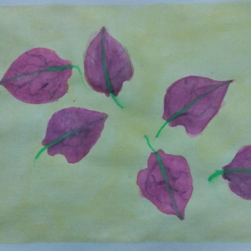 bougainvillea petals, 12 x 8 inch, nema pathania,nature paintings,paintings for dining room,paintings for living room,paintings for bedroom,paintings for office,handmade paper,watercolor,12x8inch,GAL0577213791Nature,environment,Beauty,scenery,greenery