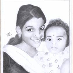 girl smile , 11 x 17 inch, arjun v nair,realism drawings,thick paper,graphite pencil,11x17inch,GAL0560413792