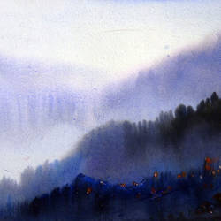 beauty of monsoon himalaya, 22 x 11 inch, samiran sarkar,paintings,landscape paintings,nature paintings,realism paintings,contemporary paintings,realistic paintings,paintings for dining room,paintings for living room,paintings for bedroom,paintings for office,paintings for hotel,paintings for kitchen,paintings for school,paintings for hospital,thick paper,watercolor,22x11inch,GAL0574913796Nature,environment,Beauty,scenery,greenery,beautiful,mountain,mist,fog,