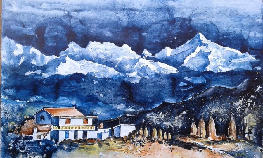 white mountain, 22 x 14 inch, hitesh kumar,paintings,landscape paintings,paintings for dining room,paintings for living room,paintings for bedroom,paintings for office,paintings for kids room,paintings for hotel,paintings for school,paintings for hospital,paintings for dining room,paintings for living room,paintings for bedroom,paintings for office,paintings for kids room,paintings for hotel,paintings for school,paintings for hospital,thick paper,acrylic color,22x14inch,GAL0411513800