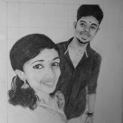 boy and girl , 11 x 17 inch, arjun v nair,realism drawings,thick paper,graphite pencil,11x17inch,GAL0560413804