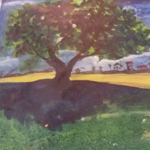 landscapes, 18 x 12 inch, upendra  padaki,paintings,landscape paintings,paintings for dining room,paintings for living room,paintings for bedroom,paintings for office,handmade paper,watercolor,18x12inch,GAL0578413837