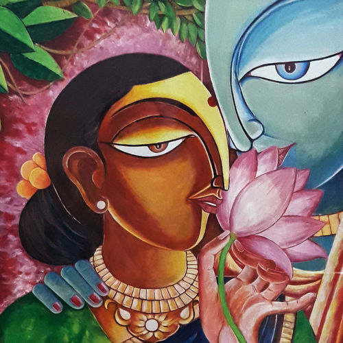 beautiful lady , 19 x 23 inch, narayana reddy vanga ,paintings,figurative paintings,paintings for living room,paintings for bedroom,thick paper,acrylic color,19x23inch,GAL0579013842