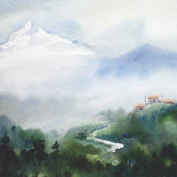beauty of morning himalaya, 16 x 12 inch, samiran sarkar,landscape paintings,nature paintings,impressionist paintings,realism paintings,contemporary paintings,realistic paintings,paintings for dining room,paintings for living room,paintings for bedroom,paintings for office,paintings for hotel,paintings for kitchen,paintings for school,paintings for dining room,paintings for living room,paintings for bedroom,paintings for office,paintings for hotel,paintings for kitchen,paintings for school,handmade paper,watercolor,16x12inch,GAL0574913852Nature,environment,Beauty,scenery,greenery