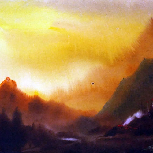 cloudy evening himalaya, 22 x 11 inch, samiran sarkar,landscape paintings,nature paintings,impressionist paintings,realism paintings,contemporary paintings,realistic paintings,paintings for dining room,paintings for living room,paintings for bedroom,paintings for office,paintings for hotel,paintings for school,paintings for dining room,paintings for living room,paintings for bedroom,paintings for office,paintings for hotel,paintings for school,handmade paper,watercolor,22x11inch,GAL0574913854Nature,environment,Beauty,scenery,greenery