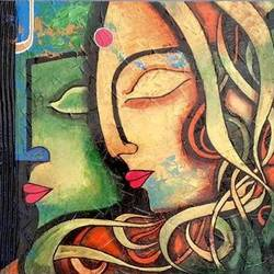 modern art radha krishna, 24 x 16 inch, saurabh kolhatkar,modern art paintings,paintings for living room,paintings for bedroom,paintings for office,radha krishna paintings,love paintings,canvas,acrylic color,24x16inch,GAL05681386,radhakrishna,love,lord,lordkrishna,peace,heart,family,caring,happiness,forever,happy,trust,passion,romance,sweet,kiss,love,hugs,warm,fun,kisses,joy,friendship,marriage,chocolate,husband,wife,forever,caring,couple,sweetheart