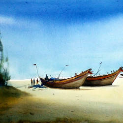 boats at monsoon seashore, 22 x 11 inch, samiran sarkar,paintings,landscape paintings,nature paintings,realism paintings,contemporary paintings,realistic paintings,paintings for dining room,paintings for living room,paintings for bedroom,paintings for office,paintings for hotel,paintings for kitchen,paintings for school,paintings for hospital,paintings for dining room,paintings for living room,paintings for bedroom,paintings for office,paintings for hotel,paintings for kitchen,paintings for school,paintings for hospital,handmade paper,watercolor,22x11inch,GAL0574913892Nature,environment,Beauty,scenery,greenery