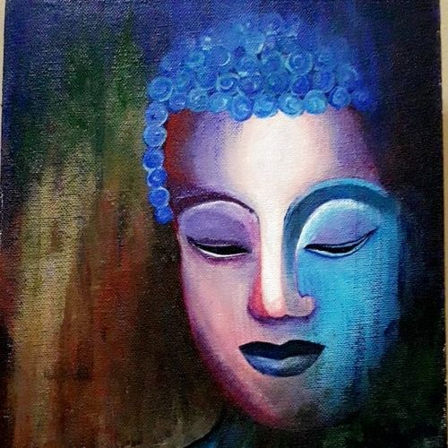 peace, 10 x 12 inch, riya shah,buddha paintings,paintings for living room,paintings for bedroom,paintings for office,paintings for hotel,paintings for living room,paintings for bedroom,paintings for office,paintings for hotel,canvas,acrylic color,10x12inch,religious,peace,meditation,meditating,gautam,goutam,buddha,lord,colourful,face,GAL0581513895