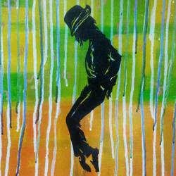 mj, 14 x 18 inch, vishal dharmani,figurative paintings,paintings for living room,canvas,acrylic color,14x18inch,GAL05691391
