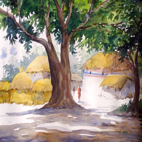 big tree in village , 15 x 12 inch, samiran sarkar,landscape paintings,nature paintings,photorealism paintings,realism paintings,contemporary paintings,paintings for dining room,paintings for living room,paintings for bedroom,paintings for office,paintings for hotel,paintings for dining room,paintings for living room,paintings for bedroom,paintings for office,paintings for hotel,thick paper,watercolor,15x12inch,GAL0574913921Nature,environment,Beauty,scenery,greenery