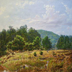 stream side, 21 x 15 inch, sanjay  sarfare ,paintings,landscape paintings,paintings for dining room,paintings for living room,paintings for bedroom,paintings for office,paintings for hotel,paintings for dining room,paintings for living room,paintings for bedroom,paintings for office,paintings for hotel,canvas,oil,21x15inch,GAL0160713934
