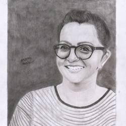 actress parvathy, 11 x 17 inch, arjun v nair,portrait drawings,thick paper,graphite pencil,11x17inch,GAL0560413946
