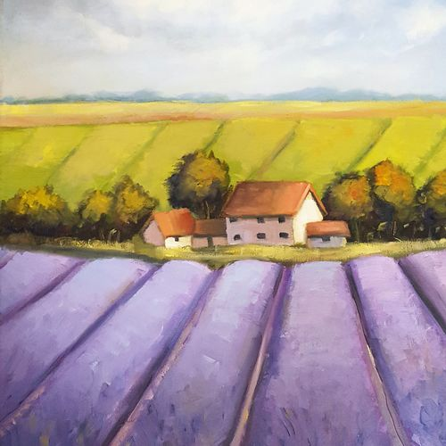 lavender dream, 16 x 24 inch, alakananda ghoshal,paintings,landscape paintings,nature paintings,paintings for dining room,paintings for living room,paintings for bedroom,paintings for office,paintings for hotel,paintings for dining room,paintings for living room,paintings for bedroom,paintings for office,paintings for hotel,canvas,oil,16x24inch,GAL0584113979Nature,environment,Beauty,scenery,greenery