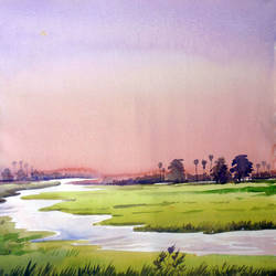 sunset rural landscape, 13 x 11 inch, samiran sarkar,landscape paintings,nature paintings,realism paintings,contemporary paintings,realistic paintings,paintings for dining room,paintings for living room,paintings for bedroom,paintings for office,paintings for hotel,paintings for kitchen,paintings for dining room,paintings for living room,paintings for bedroom,paintings for office,paintings for hotel,paintings for kitchen,thick paper,watercolor,13x11inch,GAL0574914001Nature,environment,Beauty,scenery,greenery