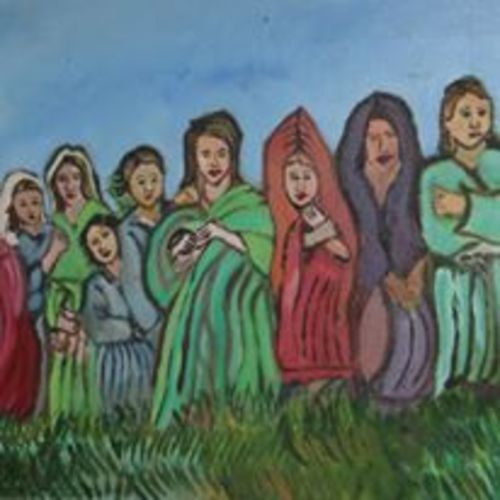 refugees, 30 x 24 inch, sujeer lukose,figurative paintings,paintings for living room,canvas,oil,30x24inch,GAL05661409