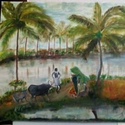 indian farmer, 15 x 21 inch, saravanan m,paintings,nature paintings,realism paintings,street art,contemporary paintings,realistic paintings,paintings for living room,paintings for bedroom,paintings for office,paintings for living room,paintings for bedroom,paintings for office,canvas,oil,15x21inch,GAL0593414116Nature,environment,Beauty,scenery,greenery