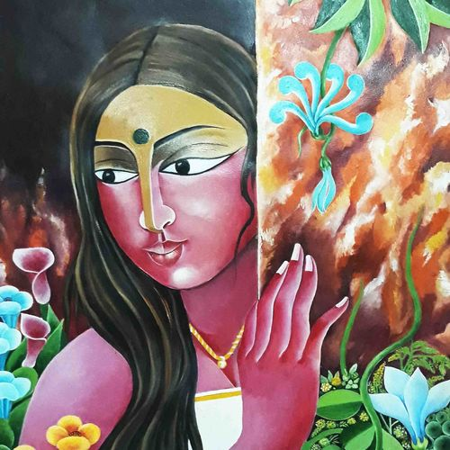 nature, 20 x 28 inch, narayana reddy vanga ,paintings,figurative paintings,thick paper,acrylic color,20x28inch,GAL0579014118