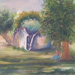 loneliness, 29 x 22 inch, babli shankhdhar,paintings,landscape paintings,paintings for dining room,paintings for bedroom,paintings for office,paintings for dining room,paintings for bedroom,paintings for office,canvas board,oil,29x22inch,GAL0594714123