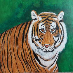 tiger - the jungle prince, 14 x 18 inch, swati agarwal,paintings,wildlife paintings,nature paintings,photorealism,realism paintings,paintings for dining room,paintings for living room,paintings for bedroom,paintings for office,paintings for bathroom,paintings for kids room,paintings for hotel,paintings for kitchen,paintings for school,paintings for hospital,paintings for dining room,paintings for living room,paintings for bedroom,paintings for office,paintings for bathroom,paintings for kids room,paintings for hotel,paintings for kitchen,paintings for school,paintings for hospital,canvas,acrylic color,14x18inch,GAL0595214128Nature,environment,Beauty,scenery,greenery