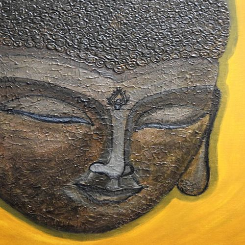 buddha - the enlightened , 12 x 14 inch, swati agarwal,paintings,buddha paintings,paintings for dining room,paintings for living room,paintings for bedroom,paintings for office,paintings for kids room,paintings for hotel,paintings for kitchen,paintings for school,paintings for hospital,paintings for dining room,paintings for living room,paintings for bedroom,paintings for office,paintings for kids room,paintings for hotel,paintings for kitchen,paintings for school,paintings for hospital,canvas,acrylic color,12x14inch,religious,peace,meditation,meditating,gautam,goutam,buddha,lord,brown,face,GAL0595214133