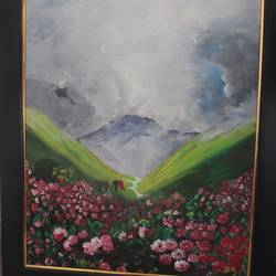 valley of flowers, 18 x 24 inch, nikita atreya,paintings,nature paintings,paintings for dining room,paintings for living room,paintings for bedroom,paintings for office,paintings for hotel,paintings for school,paintings for hospital,paintings for dining room,paintings for living room,paintings for bedroom,paintings for office,paintings for hotel,paintings for school,paintings for hospital,canvas,acrylic color,18x24inch,GAL0560814143Nature,environment,Beauty,scenery,greenery