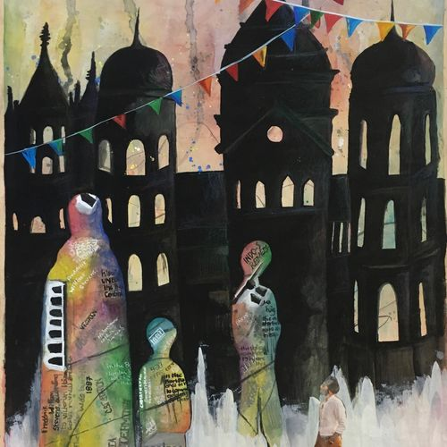 mumbai, 22 x 15 inch, naomi fernandes,paintings,abstract paintings,cityscape paintings,modern art paintings,conceptual paintings,contemporary paintings,paintings for living room,paintings for bedroom,paintings for bathroom,paintings for kids room,paintings for hotel,paintings for school,paintings for living room,paintings for bedroom,paintings for bathroom,paintings for kids room,paintings for hotel,paintings for school,cartridge paper,acrylic color,poster color,coffee,22x15inch,GAL0597614173