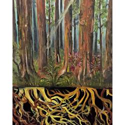 the redwoods, 18 x 30 inch, kush boradia,paintings,nature paintings,canvas,oil,18x30inch,GAL0600014205Nature,environment,Beauty,scenery,greenery