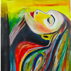 beautiful women face  - oil  showing women empowerment and confidence, 20 x 29 inch, nidhi wadhwa,abstract paintings,figurative paintings,expressionist paintings,portraiture,realism paintings,paintings for dining room,paintings for living room,paintings for bedroom,paintings for hotel,paintings for dining room,paintings for living room,paintings for bedroom,paintings for hotel,canson paper,oil,20x29inch,GAL0568714208