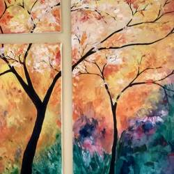 colorful acrylic, 28 x 24 inch, deepa  p,multi piece paintings,nature paintings,paintings for dining room,paintings for living room,paintings for bedroom,paintings for office,paintings for dining room,paintings for living room,paintings for bedroom,paintings for office,canvas,acrylic color,28x24inch,GAL0600614212Nature,environment,Beauty,scenery,greenery