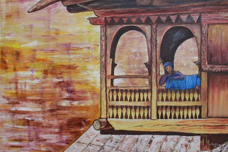 the wait, 48 x 36 inch, mallika bulusu,figurative paintings,paintings for living room,canvas,mixed media,48x36inch,GAL05811424