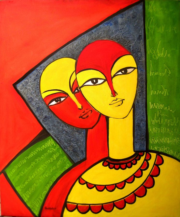 couple, 29 x 35 inch, ravi patel,paintings,figurative paintings,modern art paintings,art deco paintings,love paintings,paintings for dining room,paintings for living room,paintings for bedroom,paintings for office,paintings for hotel,canvas,oil,29x35inch,GAL0578914244heart,family,caring,happiness,forever,happy,trust,passion,romance,sweet,kiss,love,hugs,warm,fun,kisses,joy,friendship,marriage,chocolate,husband,wife,forever,caring,couple,sweetheart
