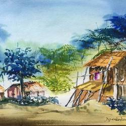 untitled, 22 x 15 inch, dipankar  biswas,paintings,landscape paintings,paintings for living room,handmade paper,watercolor,22x15inch,GAL0293214272