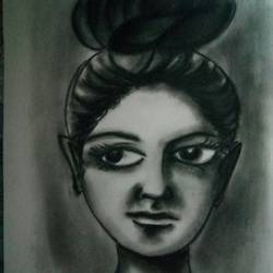 pencil sketch, 15 x 11 inch, victor chanda,paintings,buddha paintings,modern art paintings,still life paintings,portrait paintings,art deco paintings,arches paper,charcoal,15x11inch,GAL0605214303