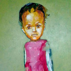 portrait of a forgotten child, 18 x 13 inch, ranjith raghupathy,paintings,expressionist paintings,canvas,acrylic color,18x13inch,GAL0605814311