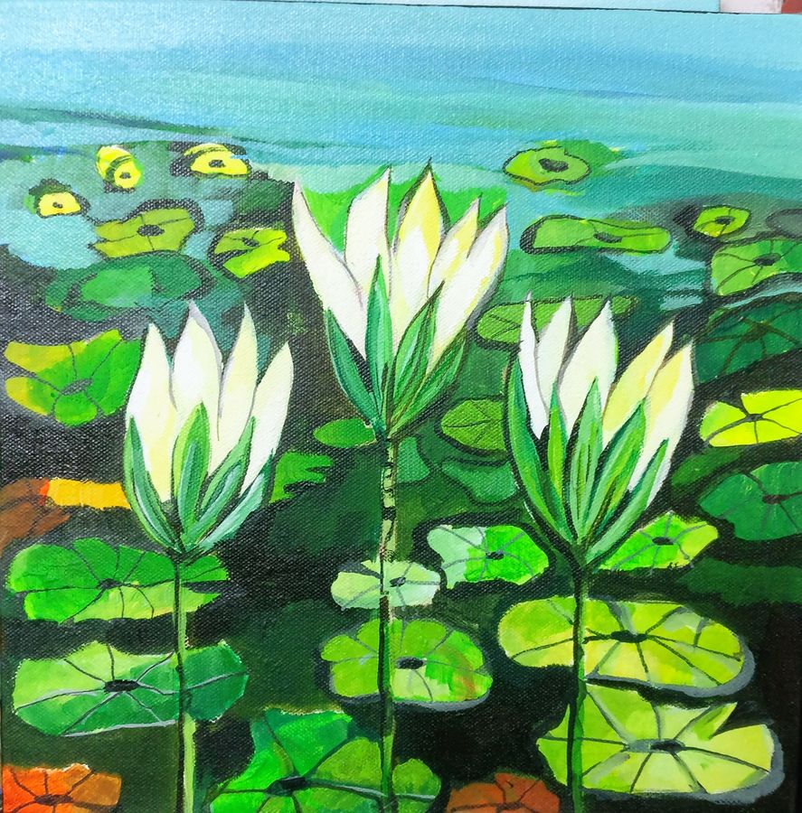 flower in lake , 12 x 12 inch, richa pamnani,flower paintings,paintings for dining room,paintings for living room,paintings for bedroom,paintings for office,paintings for bathroom,paintings for kids room,paintings for hotel,paintings for kitchen,paintings for dining room,paintings for living room,paintings for bedroom,paintings for office,paintings for bathroom,paintings for kids room,paintings for hotel,paintings for kitchen,canvas,acrylic color,12x12inch,GAL0606314321