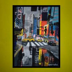 city light, 15 x 20 inch, prajyot  patil,paintings,cityscape paintings,paintings for bedroom,hardboard,watercolor,15x20inch,GAL0363614383