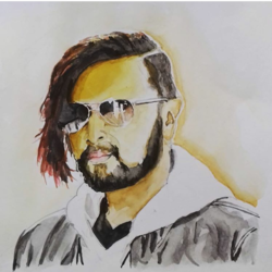 hebbuli , 9 x 9 inch, shrikant kesarkar ,portrait paintings,portraiture,paintings for living room,paintings for bedroom,paintings for office,paintings for kids room,paintings for hotel,paintings for hospital,thick paper,watercolor,9x9inch,GAL0609514390